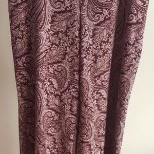 New York & Company Womens Large Stretch Paisley wi